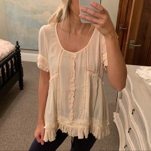 Light Pink Ruffle Tunic